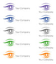 Logo design for ophthalmologist proposal a an in various colors Stock Images
