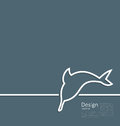 Logo of dolphin in minimal flat style line