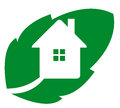Logo eco house Stock Image