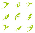 Logo Eco set Royalty Free Stock Photo