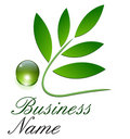 Logo ecological, green Royalty Free Stock Photo