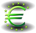 Logo euro Stock Photos