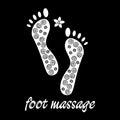 Logo foot massage in black.