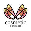 Logo in the form of multi colored wings for beauty salon Stock Photos