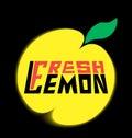 Logo fresh lemon with leave