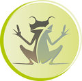 Logo frog sitting Royalty Free Stock Image