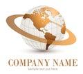 Logo globe. Royalty Free Stock Photo