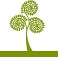 Logo green tree Stock Images