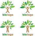 Logo green tree figure Lizenzfreies Stockfoto