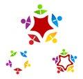 Logo group business sulla stella Immagini Stock