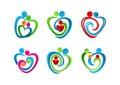 ,logo,heart,parenting,symbol,love,icon,concept,care,design