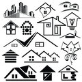 Logo homes set on a white background Royalty Free Stock Photos