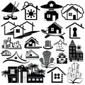 Logo homes set on a white background Stock Photos