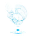 Logo icon beautiful blend massive waves abstract background Royalty Free Stock Photo
