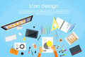 Logo Icon Designer Drawing Desk Workspace Royalty Free Stock Photo