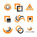 Logo icon set Royalty Free Stock Photos
