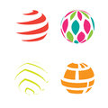 Logo icon sphere globe shapes geometric round abstract