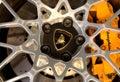 Logo of Lamborghini on wheels Royalty Free Stock Photo