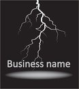Logo with the lightning a zipper on a black background Stock Photography
