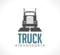 Logo - Logistic truck Royalty Free Stock Photo