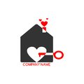 Logo - Love of Home Royalty Free Stock Images