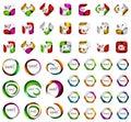 Logo mega collection - hexagons, squares, circles icons