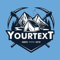 Logo for Mountain Adventure , Camping, Ice Climbing Expedition. Vintage Vector Logo and Labels, Icon Template Design Illustration