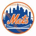 The logo of the New York Mets baseball club. USA. Royalty Free Stock Photo