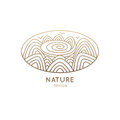 Logo oval nature