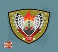 Logo paintball club mortal paintball guns and mask Stock Photo