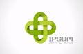 Logo Pharmacy Green cross. Hospital clinic medicin Royalty Free Stock Photo