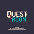 The logo for the quest room. Royalty Free Stock Photo