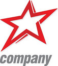 Logo red star Royalty Free Stock Photo