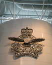 The logo of the royal canadian air force as seen on a wall in the entrance to the canadian aviation and space museum in ottawa Royalty Free Stock Images