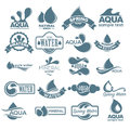 Logo set. Label for mineral water. Aqua icons collection. Vector Royalty Free Stock Photo