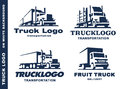 Logo set with truck and trailer.