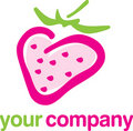 Logo strawberry fruit Stock Images