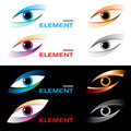 Logo striking eye. Stock Images