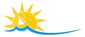 Logo sun with sailing vessel.