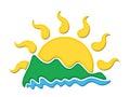 Logo sun and sea. Royalty Free Stock Photo