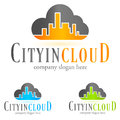 Logo tech cloud concept symbol illustration Stock Image
