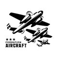 Logo Template aircraft formation
