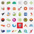 Logo templates company logotypes various shapes and colors Stock Photo