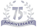 Logo for a th anniversary of a marriage business or organization eps file available Stock Photo