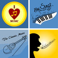 logo on the theme of music and musical instruments