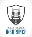 Logo - transport and logistics insurance Royalty Free Stock Photo