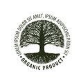Logo tree. organic, Natural product. Nature or ecology symbol. Environmentally friendly icon Royalty Free Stock Photo