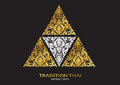 Logo triangle shape abstract line thai tradition pattern backgro