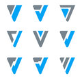 Logo Triangle & V, W Royalty Free Stock Photo