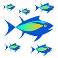 Logo .Vector image of tuna fish.